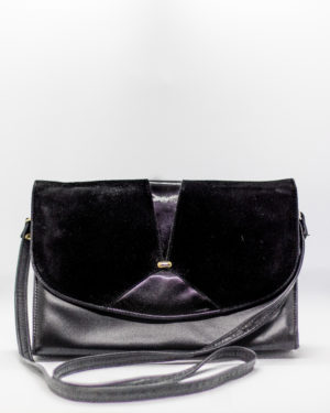 suede and leather purse
