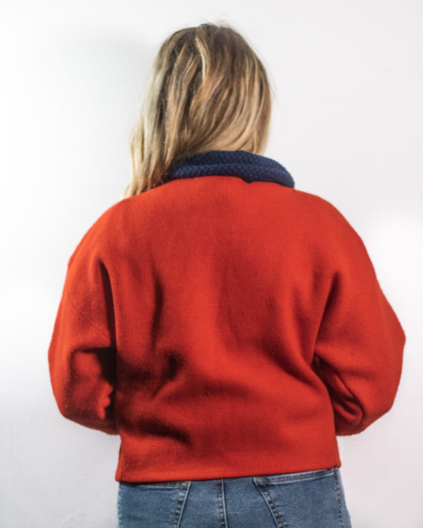 Red Knit Pullover B